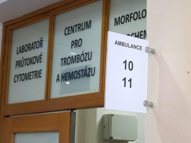 Nové ambulance Centra pro trombózu a hemostázu